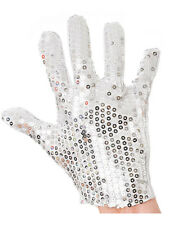 Michael Jackson Silver Sequin Glove Fancy Dress Dance Accessory Unisex New