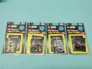 Lego Star Wars Sticker Serie alle 4 Blister 40 Tüten + alle 4 3D Sticker