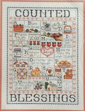 Bucilla Counted Blessings Alphabet Sampler Cross Stitch Kit Joan Elliott 40545