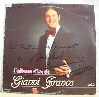 "33T Gianni FRANCO Disque LP 12"" ALBUM D'OR Vol 2 Dédicace G-F DORO 20 RARE"