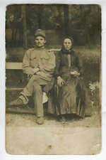 RPPC Portrait Austro-Hungarian Wounded Soldier With Woman 1915