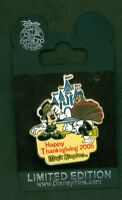 DISNEY PIN TURKEY HUNT MICKEY MOUSE & DONALD DUCK W/ TURKEY LIMITED EDITION