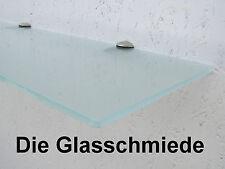Glasregal satiniert, 70cm x 20cm x 6mm, Glasregale Wandregal Badregal Ablage