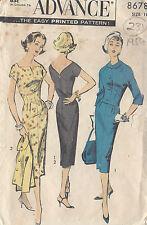"1950s Vintage Sewing Pattern DRESS & JACKET B38"" (231)"