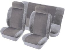 TOYOTA COROLLA Universal Velour Fabric Car Seat Covers in GREY