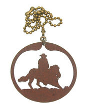 Cutting Horse Rodeo Fan Pull - Ornament