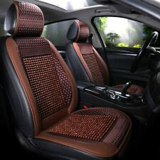 Brown Auto Car Seat Cover Cushion Message Wooden Bead Cool Refreshing for Summer