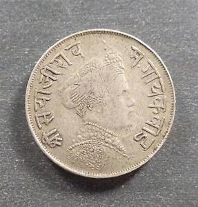 India - Princely States Baroda, Silver 1/2 Rupee , 1894-95, toned