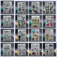 Colorful Transparent Stamps Silicone Rubber ClearCling Sheet Scrapbooking Crafts