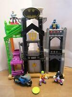 Imaginext Batman Wayne Manor Tower Penguin Joker Batman Commissioner Gordon Bike