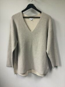Gorgeous Ladies REISS Gold Glittery Heavyweight Top, UK Size Large, Very Good Co