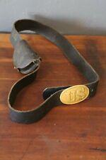 Vintage Civil War Belt Buckle Pouch Cartridge etc Reenactment Old buckle leather