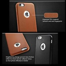 Protective Impact Displacement Soft Micro Silicone TPU Apple iPhone 7 Brown Case