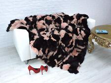 LUXE VRAI RENARD couverture noir/rose 230cm x 200cm, I968