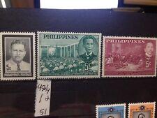SELLOS DE FILIPINAS. NUEVOS CON FIJASELLOS.  YVERT Nº 452/4