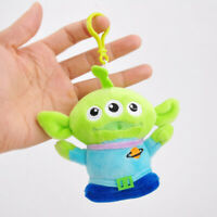"10Pcs 4"" Cute Toy Story 4 Aliens Green Plush Ornament Doll Stuffed Key Chain"