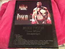 Mike Tyson statistics plaque