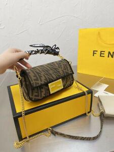 Fendi Vintage Zucca Pattern Handbag Shoulder Bag Canvas