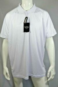 Mens Boys Big & Tall White Raglan Stretch Polo Size 3XL RRP £20 MPAug12-3
