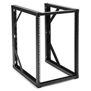NavePoint 15U Wall-Mount Open Frame Network Rack 24.81 Inch Depth, AV Rack,