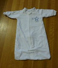 Snugtime Cosi Bag Sleep Sack 0-6 Months White Blue Boys Lined Sleeper Australia