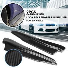 52cm Carbon Fiber Look Rear Bumper Lip Splitters Side Aprons Canard For BMW E92