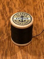 Clark's Anchor Button & Carpet (Wood Spool & Thread) Vintage Sewing Collectible