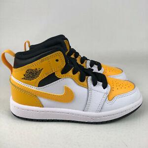 Nike Air Jordan 1 Mid TD Shoes University Gold 640735-170 Toddler Baby Size 8C