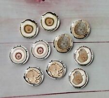 10PCS 12mm Handmade Glass Cabochon Wooden Ring Cameo Cabs Glass Dome A57
