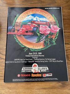 1989 Budweiser GI Joe's 200 At Portland Cart/Indycar Racing Program