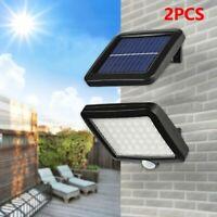 2Paires 56LED Lampe Solaire Projecteur Capteur Mouvement Jardin Extérieur CWME