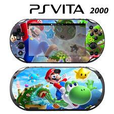 Vinyl Decal Skin Sticker for Sony PS Vita Slim 2000 Super Mario Yoshi