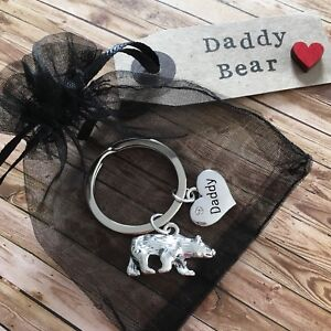 Daddy Bear keyring gift - Love you