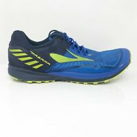 Brooks Mens Mazama 2 1102351D467 Blue Neon Running Shoes Lace Up Size 12 D