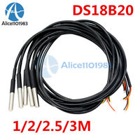 1/2/2.5/3m DS18B20 Waterproof Digital Humidity Temperature Sensor Thermal Probe