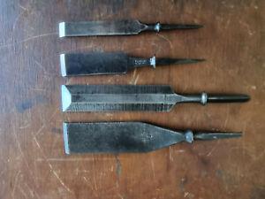 Vintage Firmer & Bevel Edge Chisels x 4. No Handles. Nice old tools