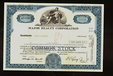 MRC MAJOR REALTY CORPORTION ( now PBD Holdings Pembroke old stock certificate
