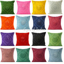 "16/24"" Mirror Embroidered Colorful Decorative Sofa Couch Pillow Cover Case Cushi"