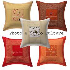 "Indian Brocade Pillow Case Cover Home Decorative Bedding Sofa Cushion Cover 16"""