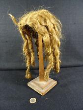 ancienne grande perruque cheveux naturels poupée porcelaine diamétre 12 cm