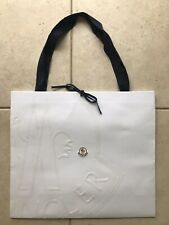 100% auth New Moncler White Embossed Empty Shopping Gift Paper Bag Large 19x16.5
