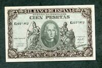 BILLETE 100  PESETAS 1940 COLON SERIE C 2001852  EBC  APRESTO NUEVO COLON
