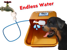 Automatic Dog Waterer Water Bowl Self-Filling Garden Hose GOLD ALUMINUM