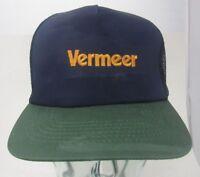 Vintage Vermeer Mesh Trucker Hat Snap-back  Farm Equipment  A10
