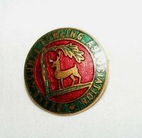 VINTAGE ENAMEL BERKS COUNTY BOWLING ASSOCIATION BROOCH / BADGE / PIN