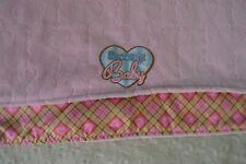 Precision Pet Products Snoozzy Baby Blankie Pink Blanket Hearts Plaid Paw Print