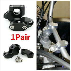 1 Pair Handlebar Risers & Offset Kits For Motorcycle w/ 7/8Inch 22mm Handle Bars