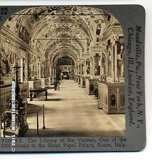 STEREOVIEW  VATICAN LIBRARY , ROME, ITALY