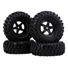 RC1:10 Off-Road Climbing Car Tires + Wheel Rim 12mm Hub Pack of 4 .