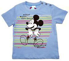 NEU!! Disney Mickey Mouse T-Shirt Shirt Pulli Baumwolle blau 86